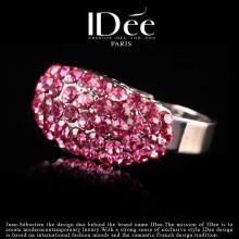 法国IDee戒指女 紫水晶开口食指戒简约时尚高贵气质指环创意浪漫生日情人节礼物送女友闺蜜