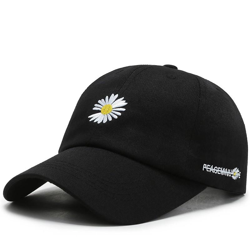 【京东商城】权志龙同款小雏菊鸭舌帽子 黑色