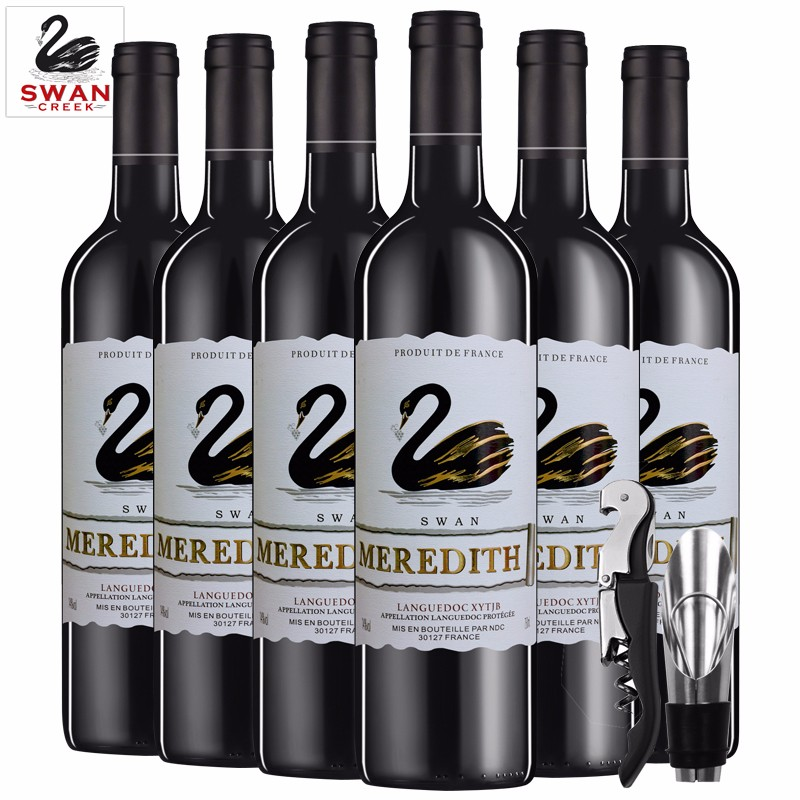 顺丰【漏洞价129元】法国进口 朗格多克AOP米致天鹅干红葡萄酒750ml 整箱6支