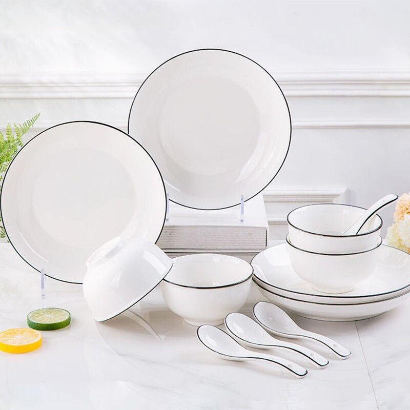 【25.9超值16件】兰思 北欧简约陶瓷餐具套装