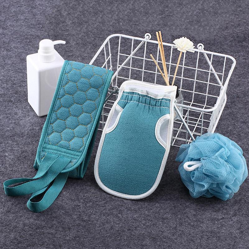 【搓澡神器】搓澡巾3件套(拉背条+沐浴球+搓澡巾)