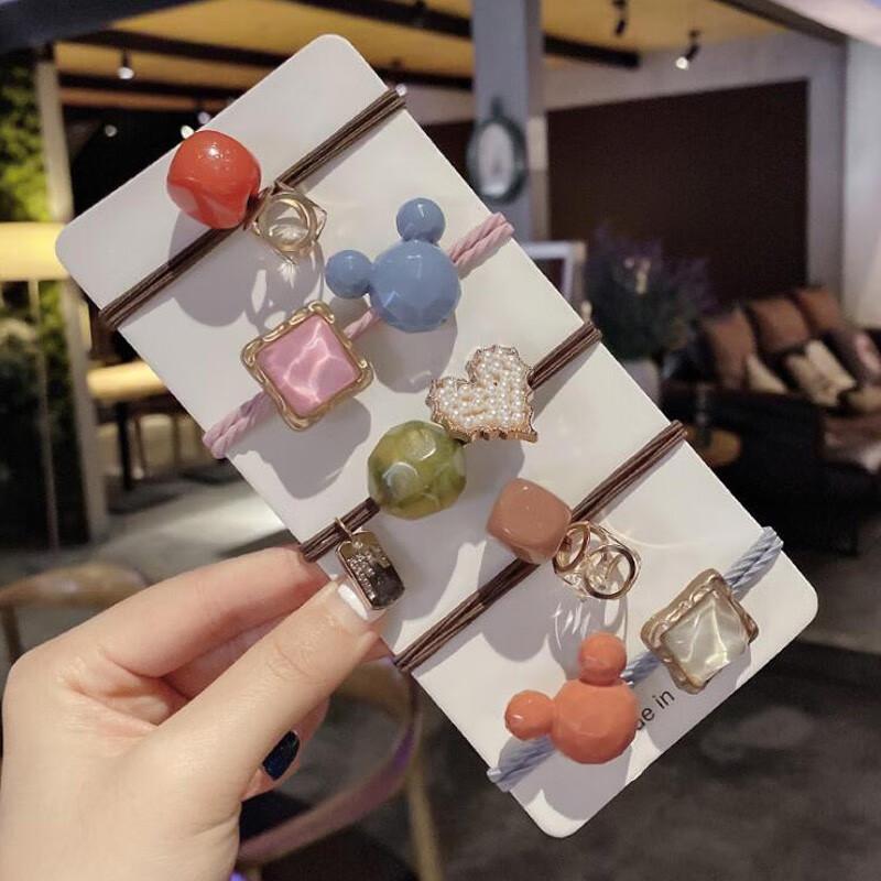 【这个超美】韩系风格头绳五件套 赠发夹和手环