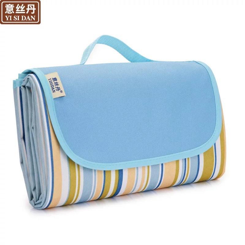 【野炊必备】户外加厚防潮野餐垫 蓝条纹145*80CM