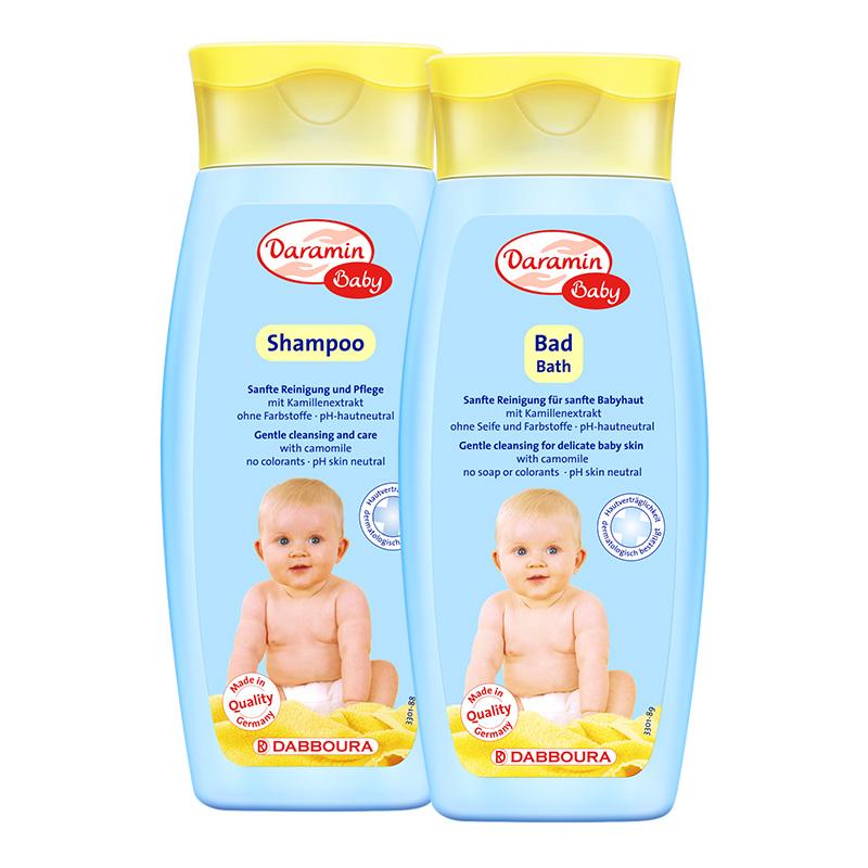 【官方旗舰店】达罗咪 德国进口婴儿洗发水250ml+沐浴露250ml
