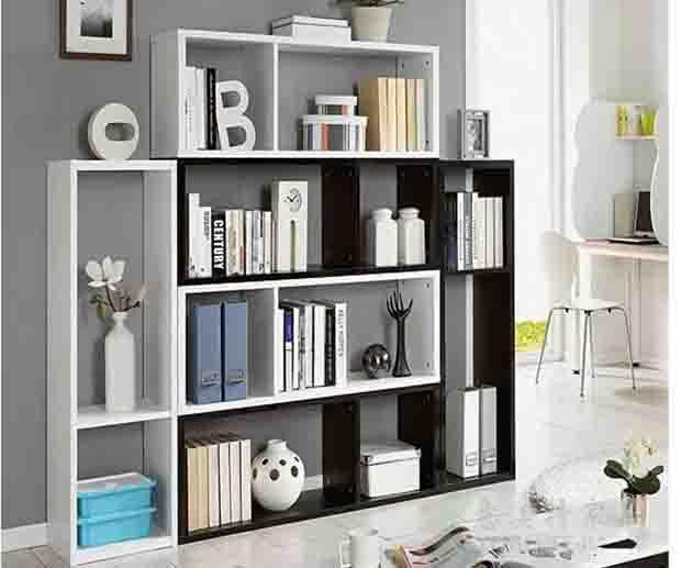 意美特簡約創意書柜書架個性書柜自由組合儲物柜置物架酒柜