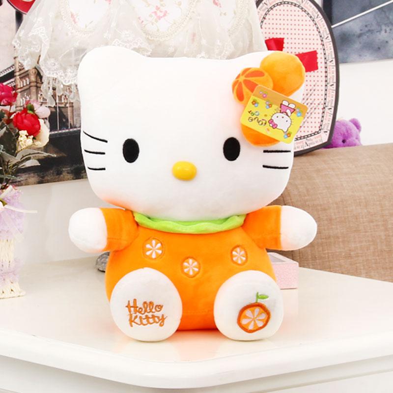 金喜派 hello kitty猫水果kt猫凯蒂猫公仔玩偶毛绒玩具圣诞礼物 生日