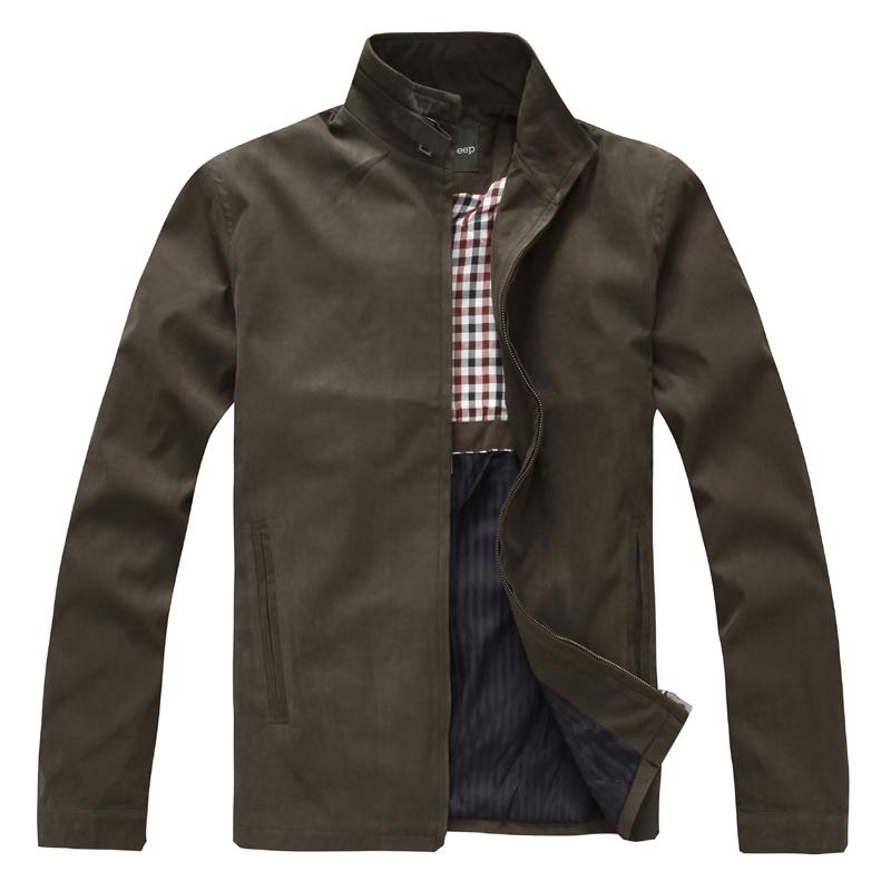 战地吉普 (afsjeep) 男士春装夹克 男士春款外套正品授权商务休闲夹克