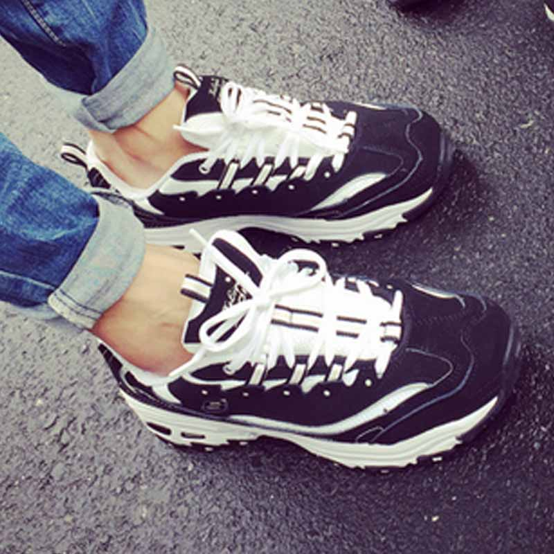 凯恩坎普 新款权志龙同款时尚黑白运动鞋 休闲鞋 情侣鞋 dsa342-xz01