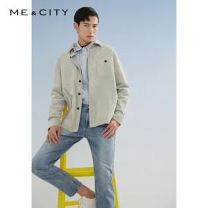 ME&CITY 527437 男士纯棉灯芯绒夹克式长袖衬衫 *2件 主图