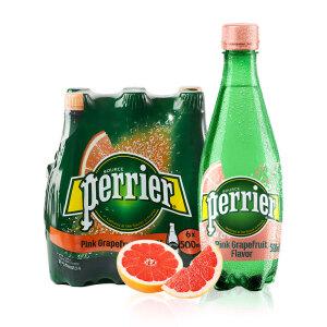 perrier 巴黎水 气泡矿泉水 西柚味含气天然矿泉水 500ml*6瓶 (塑料瓶)整箱 主图