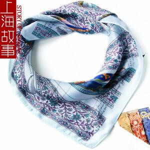 上海故事 53小方巾 女士百搭小方巾 主图