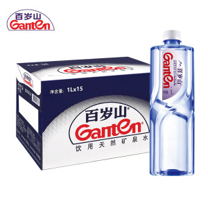 Ganten 百岁山 景田 饮用天然矿泉水1L*15瓶 主图