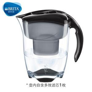 PLUS会员:BRITA 碧然德 探索者系列 滤水壶 1壶1芯 黑色 主图