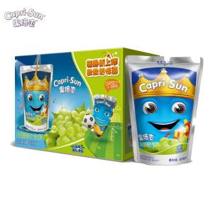 Capri-Sun 果倍爽 白葡萄味少儿果汁饮料 200ml*6包 主图