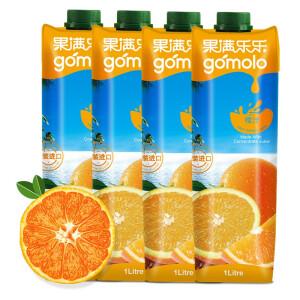 gomolo 果满乐乐 橙汁 果汁饮料 1升*4瓶 主图