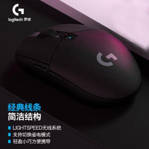 亲子会员:logitech 罗技 G304 LIGHTSPEED 无线鼠标 12000DPI 黑色 主图