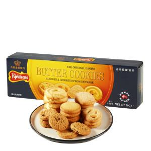 有券的上: Kjeldsens 丹麦蓝罐 曲奇饼干原味 90g *5件21.65元(双重优惠)