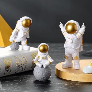 卡芬蒂 宇航员摆件 金色(三件套) 主图