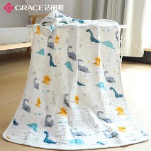 grace 洁丽雅 6层纯棉婴儿纱布浴巾 *2件 主图