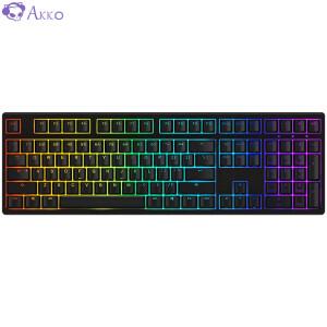 Akko 3108S.RGB机械键盘 有线键盘 黑色 樱桃银轴 主图