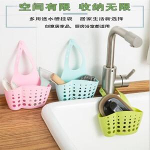 江南玥 厨房水槽沥水篮挂袋 3个 颜色随机 主图