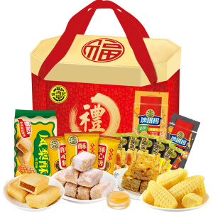 京东PLUS会员: 徐福记 混合口味大礼包礼盒 1956g *2件 主图