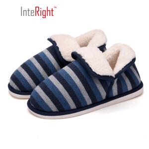 京东PLUS会员、再降价: INTERIGHT 北欧长毛绒系列 IN1830 中性款包跟棉拖鞋 *3件 主图